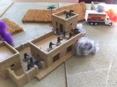 DEFCON ZERO U.S. special operations defending a building are taking fire from the Pan-Persian empire forces