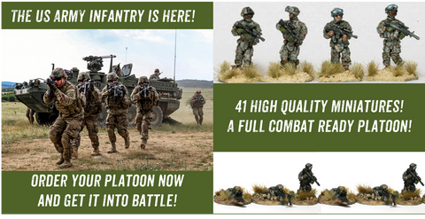 US Army Light Infantry Platoon Bundle - USAR-001B - PreOrder