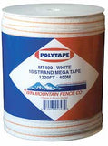 White 10 Strand Mega Tape, 1320'/400m [MT400W]