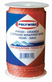 Orange 6 Strand Wrapper Wire, 1650'/600m [PW500]