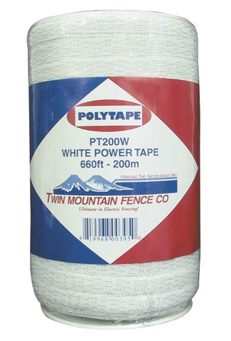 White 6 Strand Power Tape, 660'/200m [PT200W]