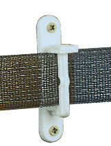 Wide Tape/Rope Wood Post Insulator, Nail-On, White [TI349W]