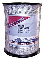 White 9-Strand Polywire 1320'(400m) [TP523]