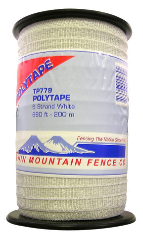 White Poly Tape/Hot Tape 660'(200m) [TP779]