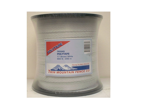 "Wide 1 1/2"" White Poly Tape/Hot Tape 660'(200m) [TP5545]"
