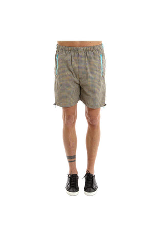 Prada Micro Checked Zip Shorts