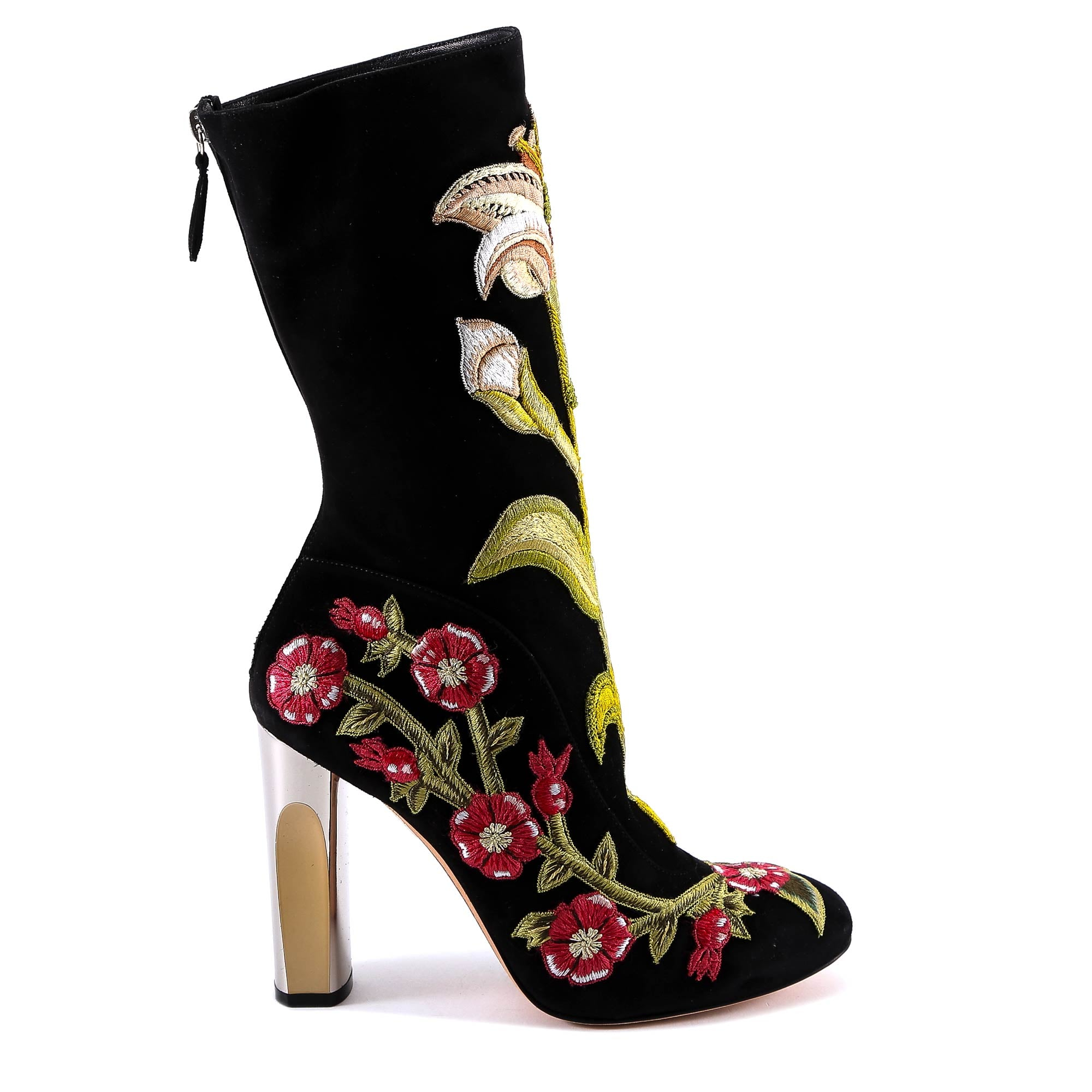 ALEXANDER MCQUEEN MEDIEVAL EMBROIDERED BOOTS