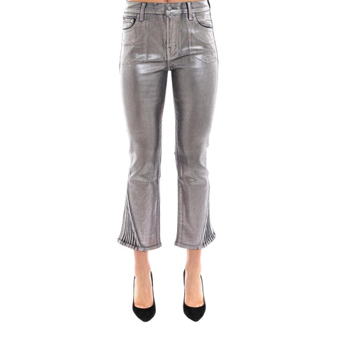 J Brand Cropped Metallic Pants