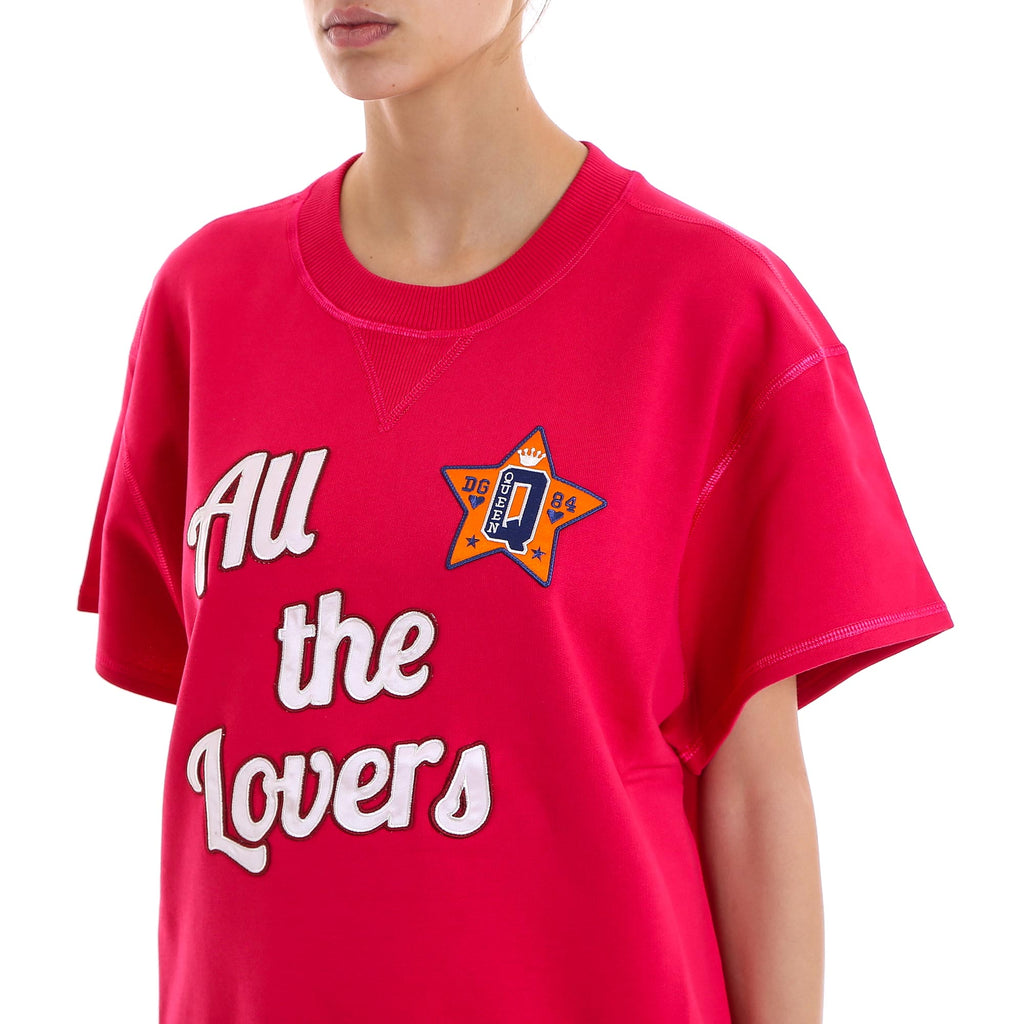 All The Lovers short sleeved sweatshirt - Pink & Purple Dolce & Gabbana 2018 Cheap Online Free Shipping Clearance Store Discount Purchase Cheap Sale Best Seller Th95ifYcwV