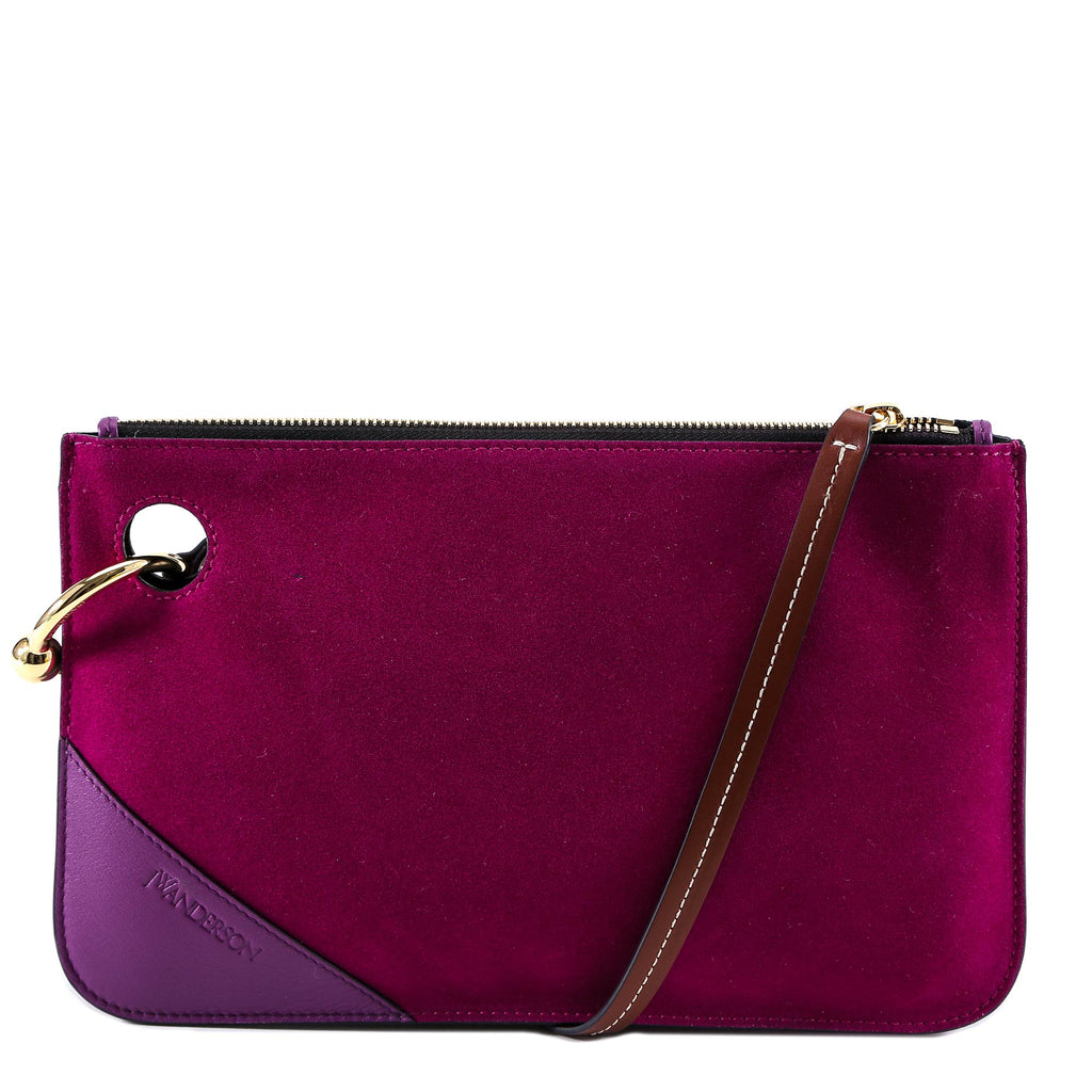 Quality From China Cheap Official Pierced Suede Shoulder Bag - Only One Size / Purple J.W.Anderson Sale With Mastercard Sale Online 1pKDGuu7