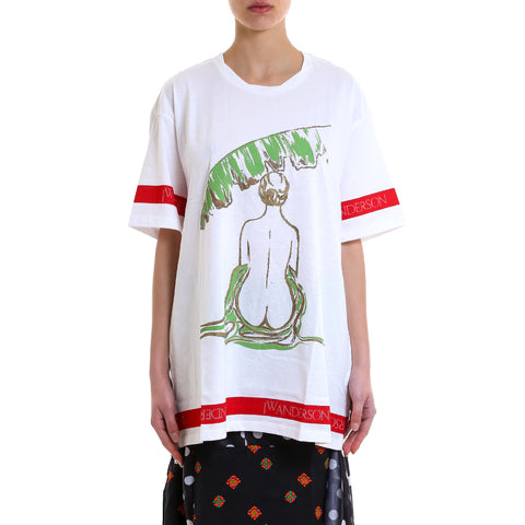 JW Anderson Woman Print Oversized T-Shirt