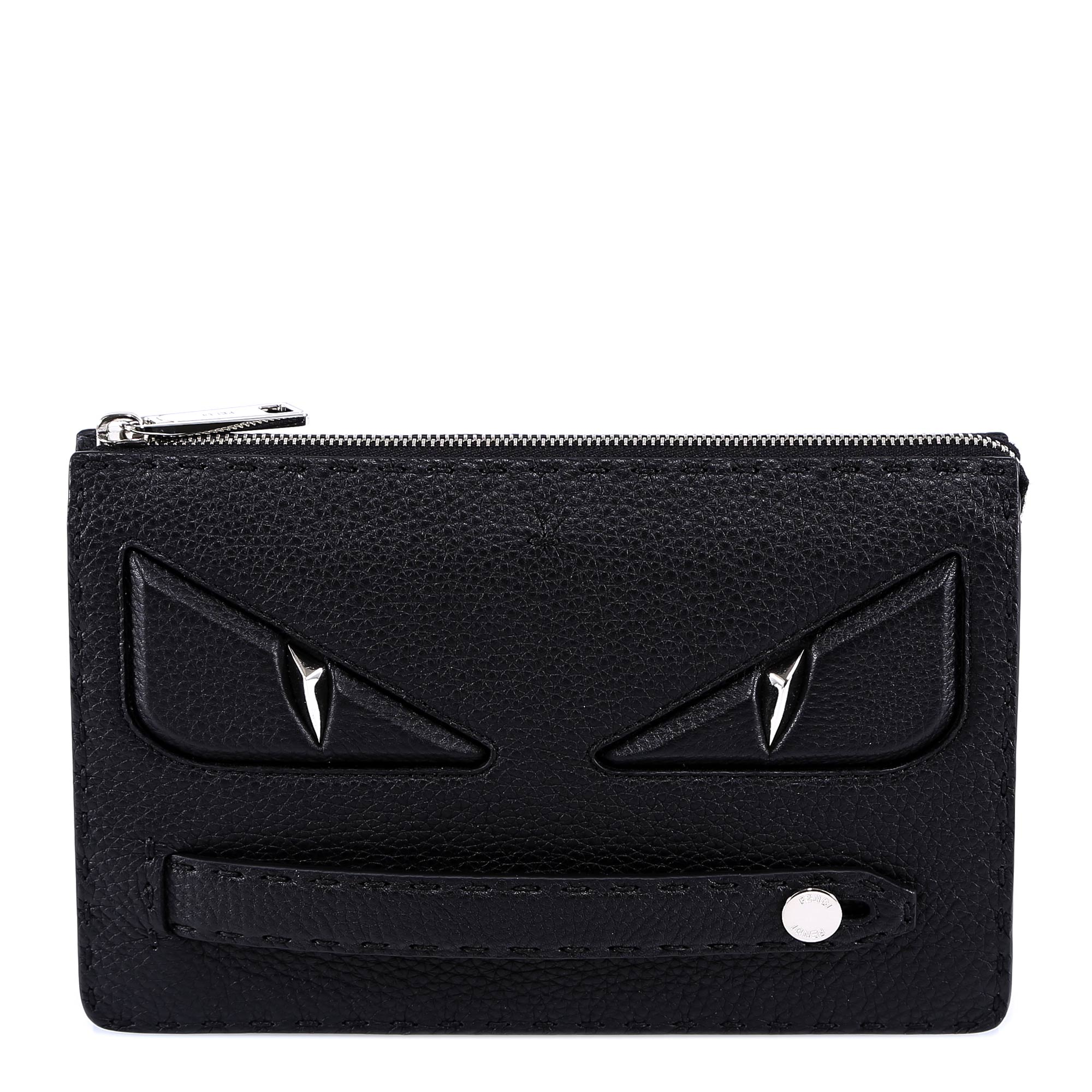 e86f5dc8e1c5 Fendi Bag Bugs Clutch Bag In Black