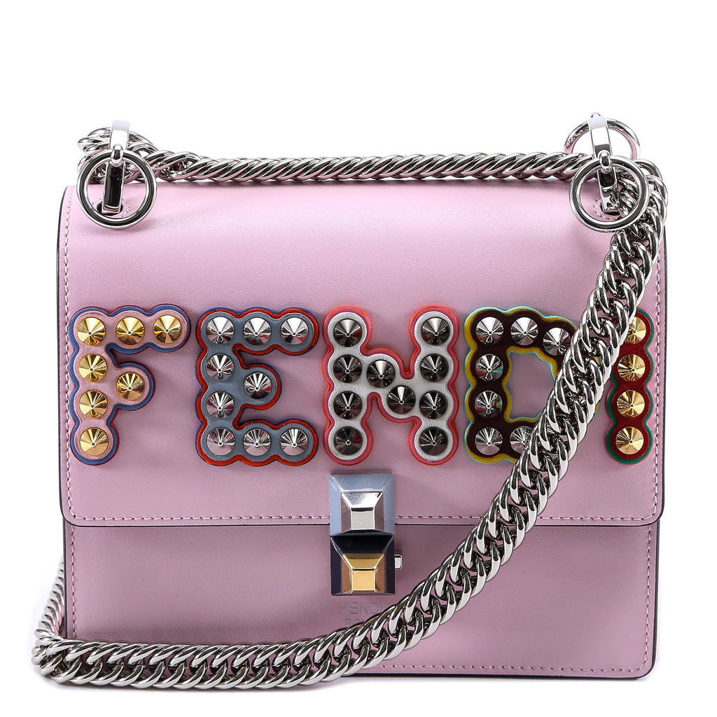 ca6bf7cc41a7 Fendi Kan I Studded Logo Shoulder Bag