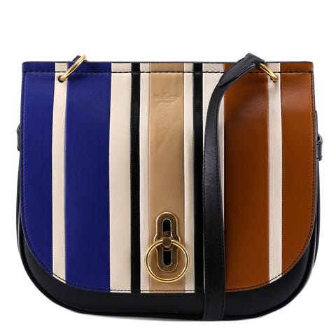 Mulberry Amberley Striped Satchel Bag