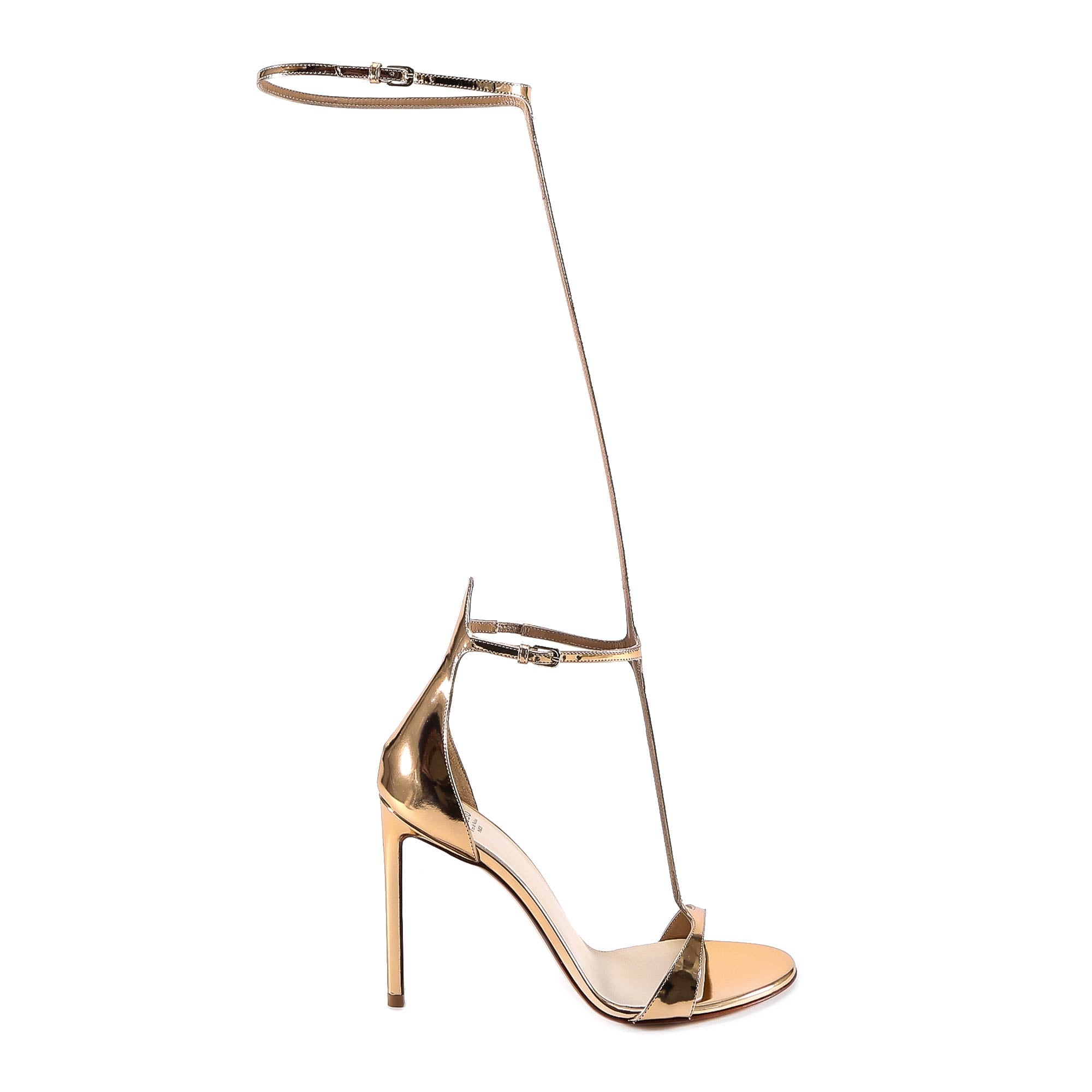 FRANCESCO RUSSO LEG STRAP SANDALS
