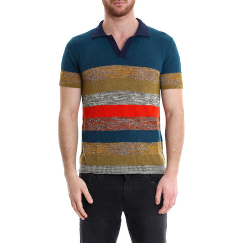 Nuur Striped Knit Polo