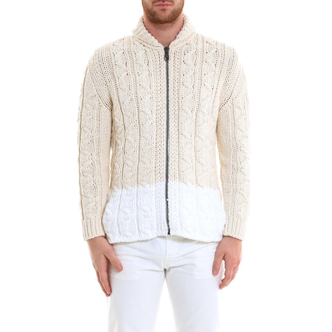 Salvatore Ferragamo Cable Knit Zip Sweater