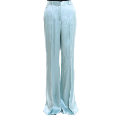 Salvatore Ferragamo Flared Silk Pants