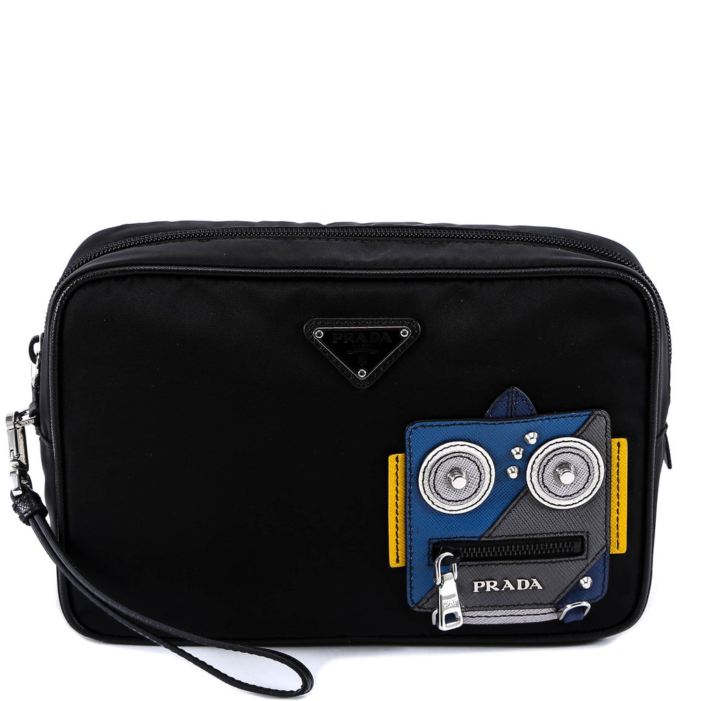 e65859bc4ce7 Prada Robot Patch Toiletry Bag – Cettire