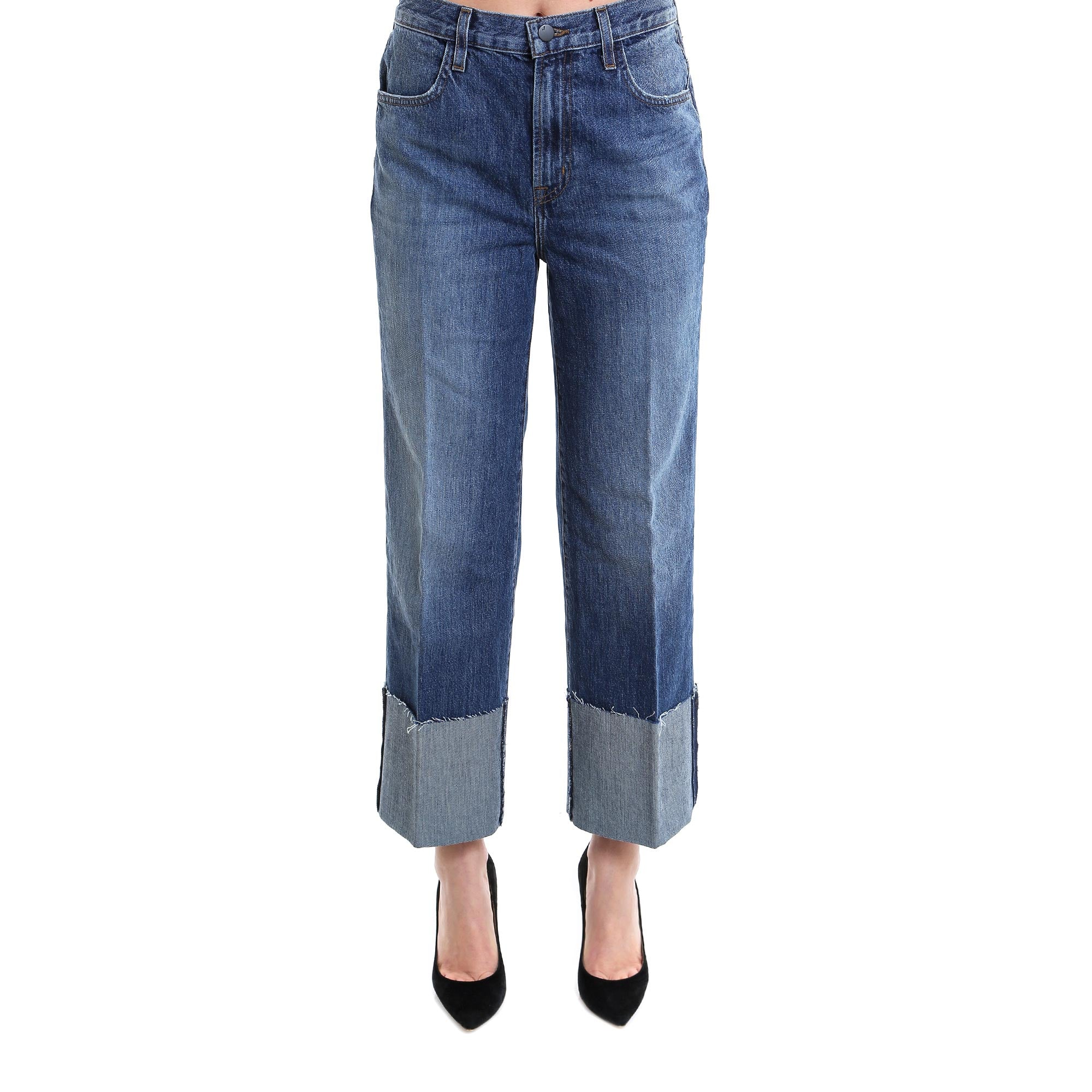J BRAND CROPPED LOOSE FIT JEANS