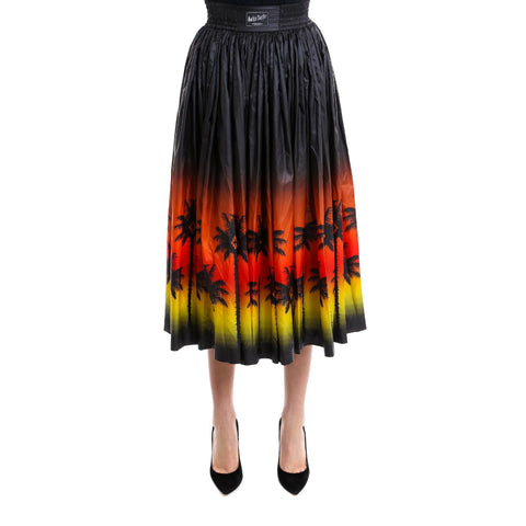 Marcelo Burlon County Of Milan Tropical Sunset Pleated Skirt