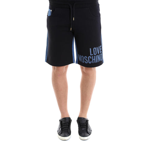 Love Moschino Denim Contrast Shorts