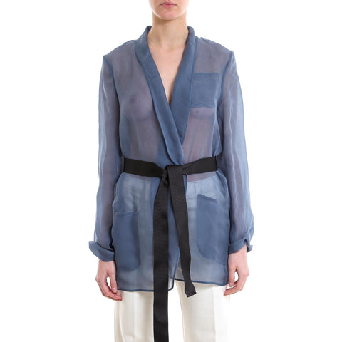 Brunello Cucinelli Belted Sheer Cardigan