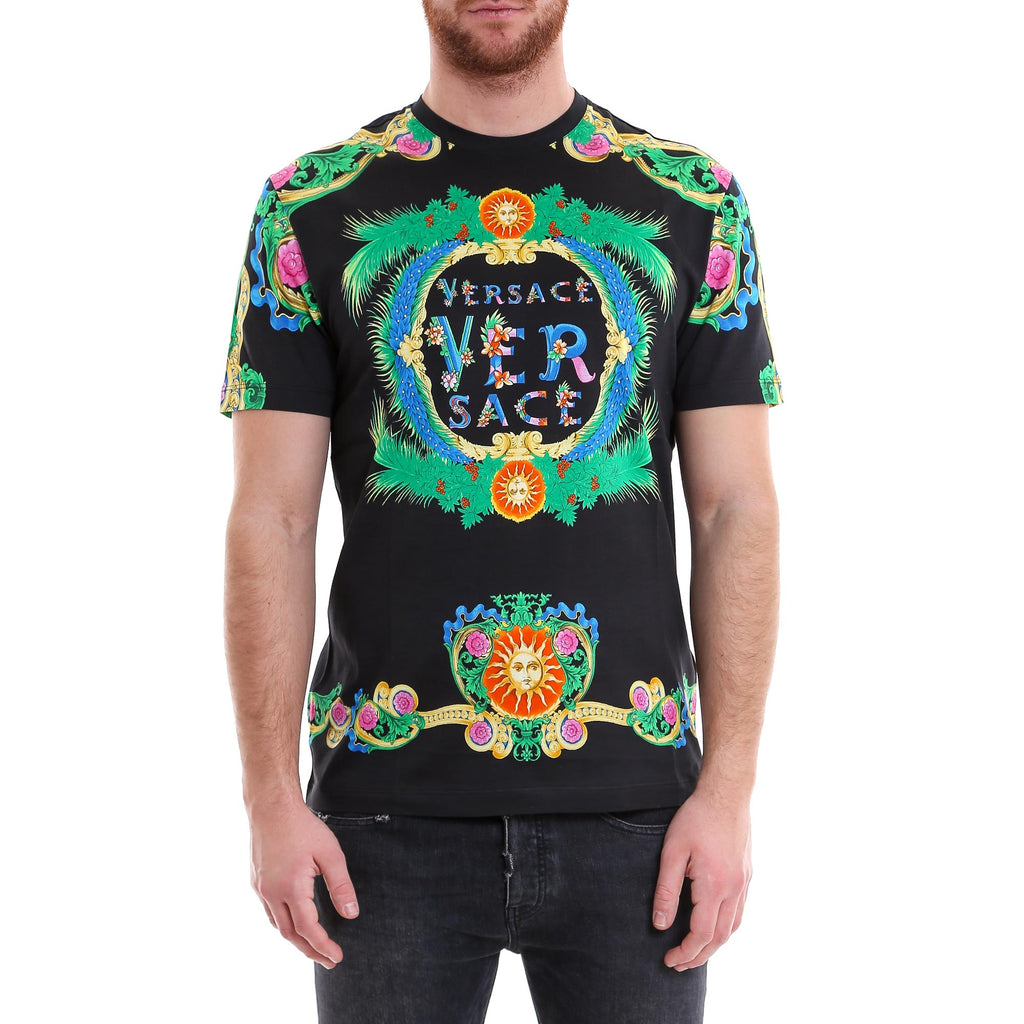 88b76ded Versace Floral Printed T-Shirt – Cettire