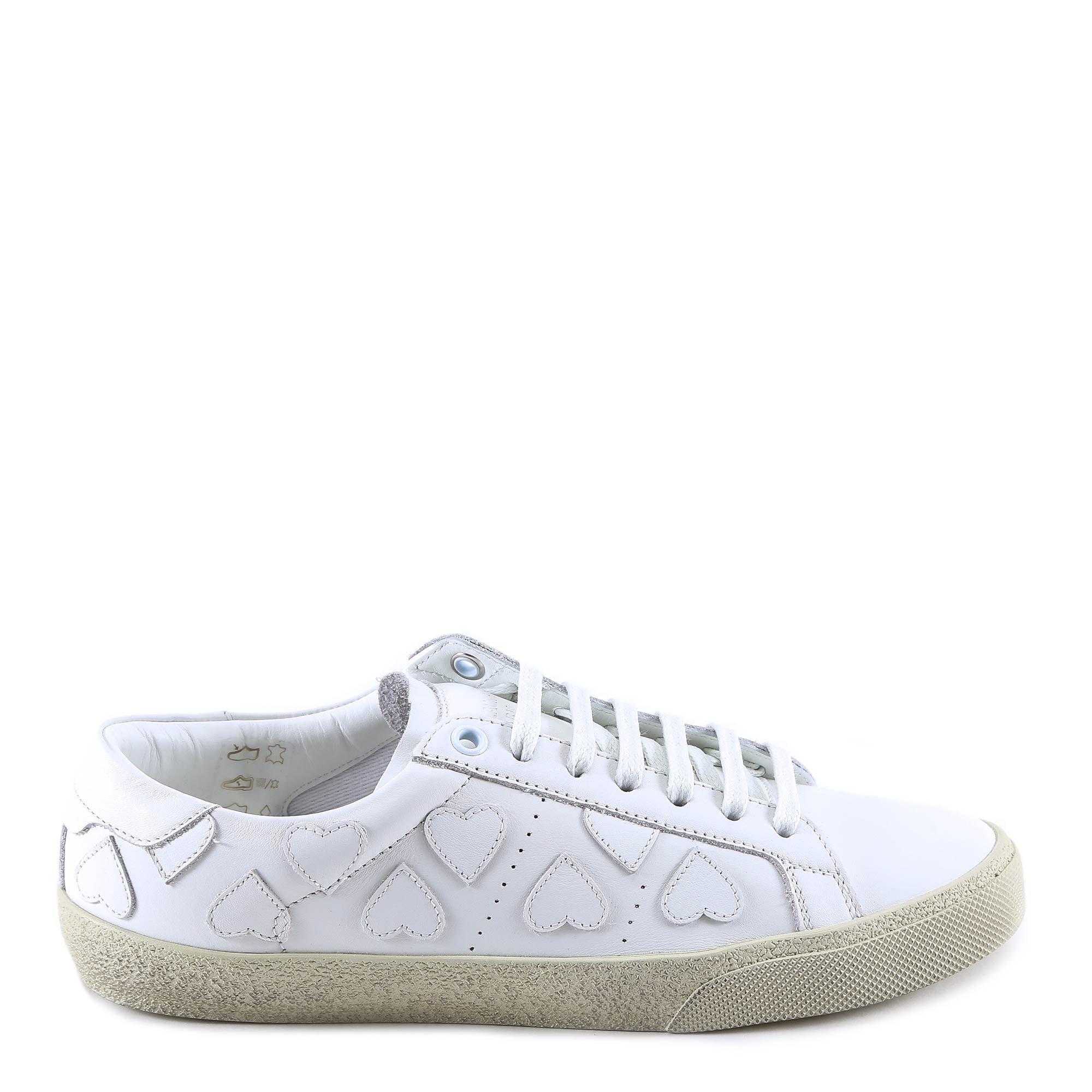 SAINT LAURENT COURT CLASSIC SL/01 HEART SNEAKERS