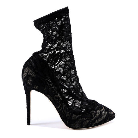 Dolce & Gabbana 105 Lace Ankle Boots