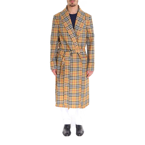 Burberry Check Waist Tie Coat