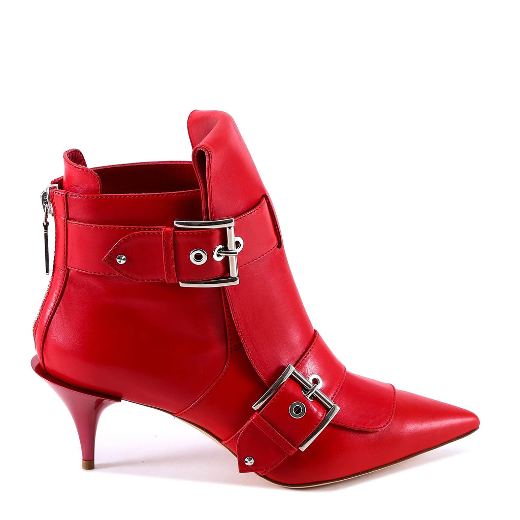 Buckled Ankle Boots - IT37.5 / Red Alexander McQueen DsFWy