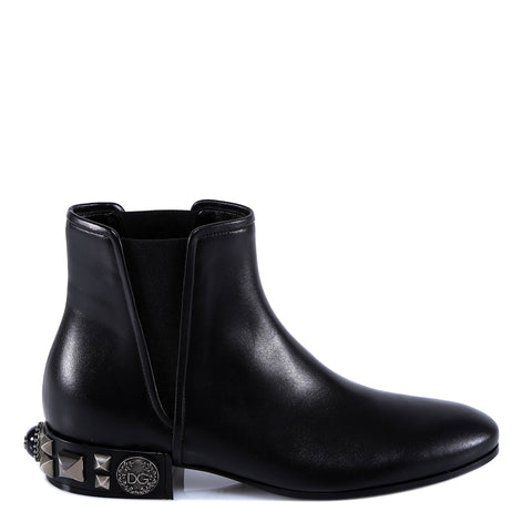 Dolce & Gabbana Studded Heel Chelsea Ankle Boots