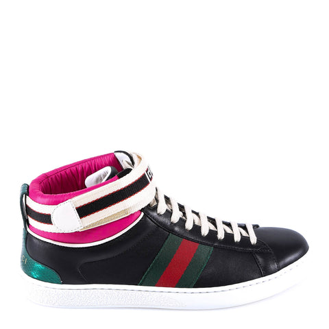 Gucci Stripe High-Top Sneakers