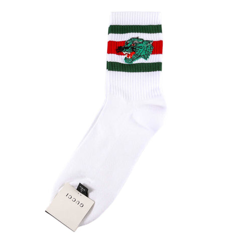 Gucci Panther Embroidered Socks