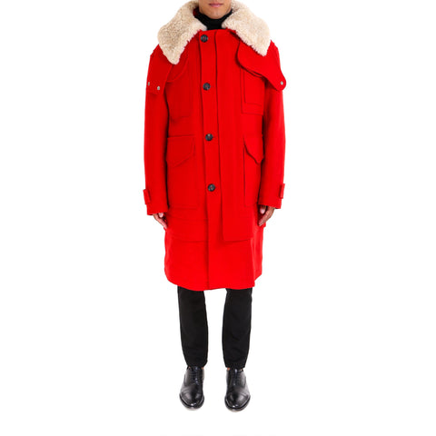 Alexander McQueen Wool Collar Coat
