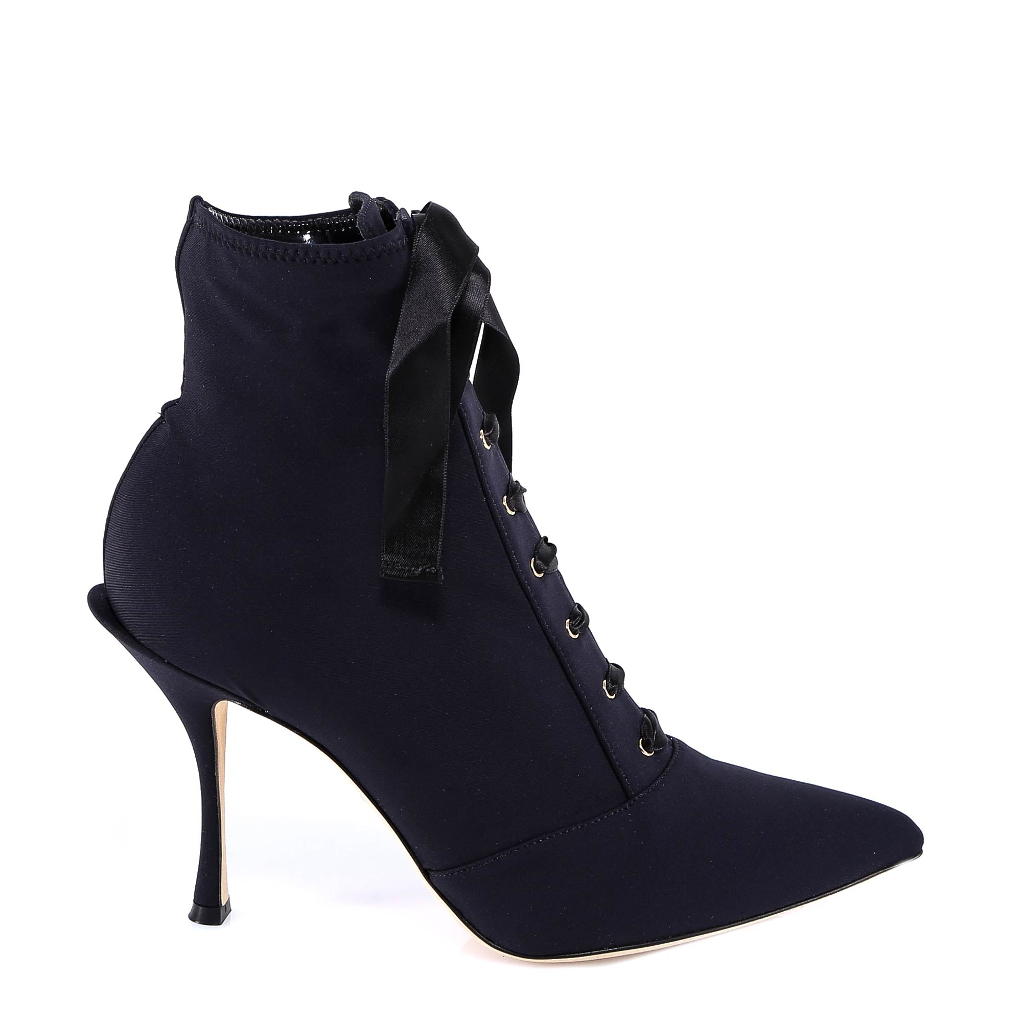 Lori Stretch Jersey Ankle Boots in Black