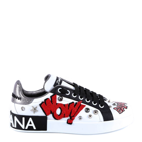 Dolce & Gabbana Wow Studded Sneakers