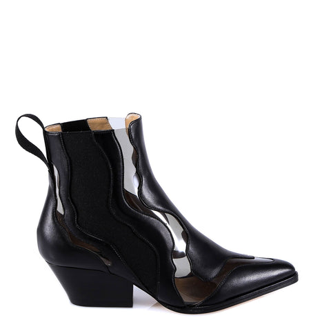 6e94faaa3ca Sergio Rossi Transparent Cut Out Design Ankle Boots
