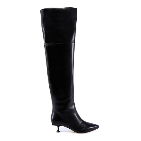 Sergio Rossi Leather Knee High Boots