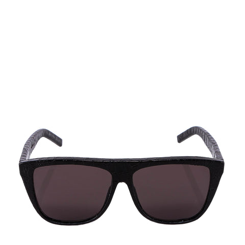 Saint Laurent Eyewear Snakeskin Effect Square Frame Sunglasses