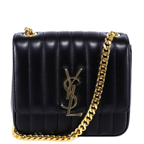 d40f07350697 Saint Laurent Vicky Quilted Chain Bag