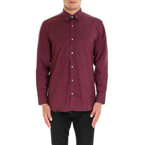 Burberry Check Detail Long Sleeve Shirt