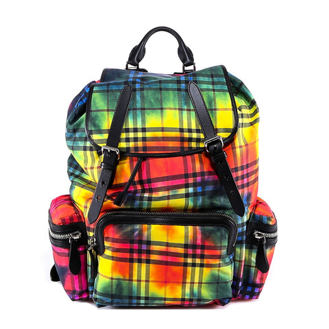 Burberry Colourful Checked Backpack