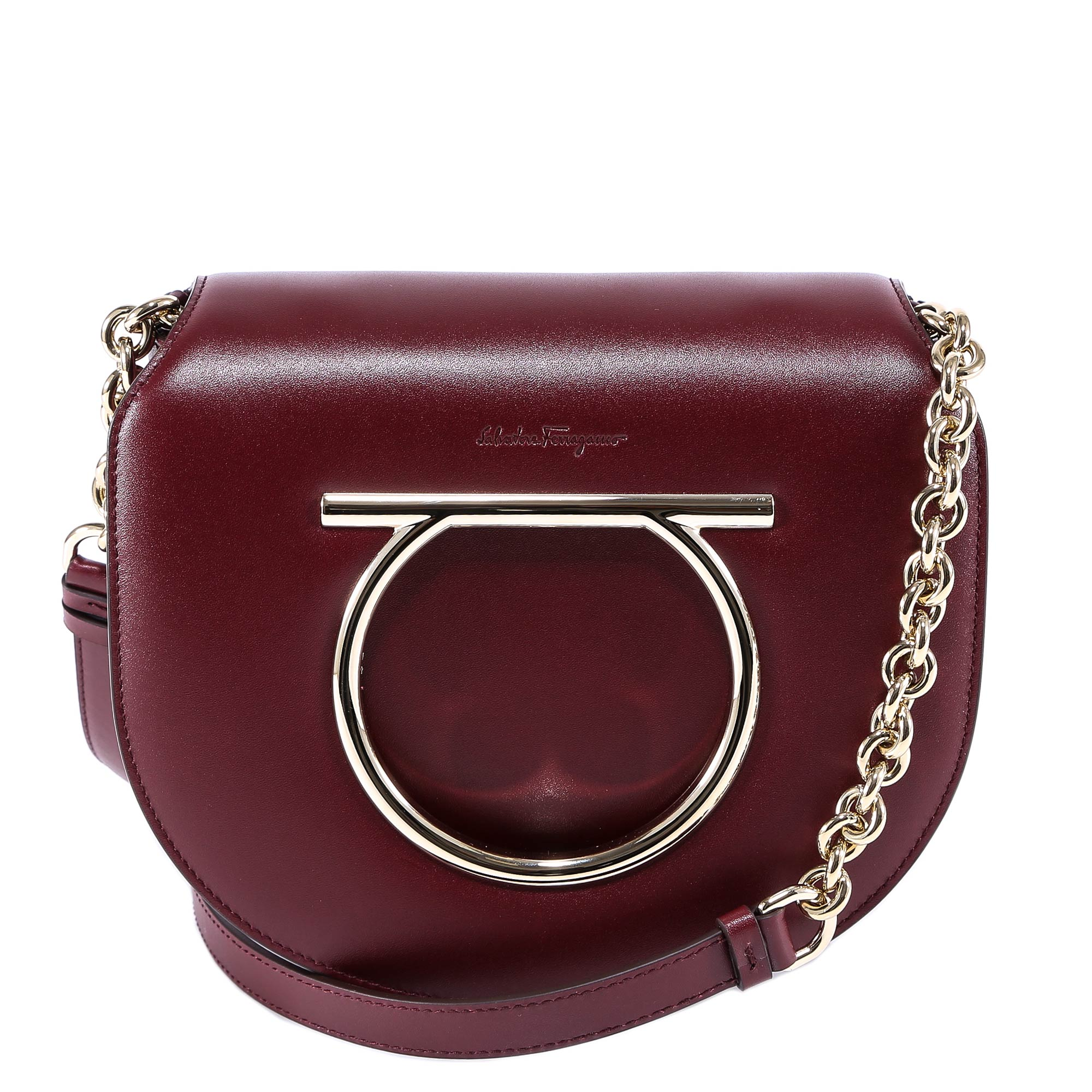 SALVATORE FERRAGAMO FLAP SADDLE BAG
