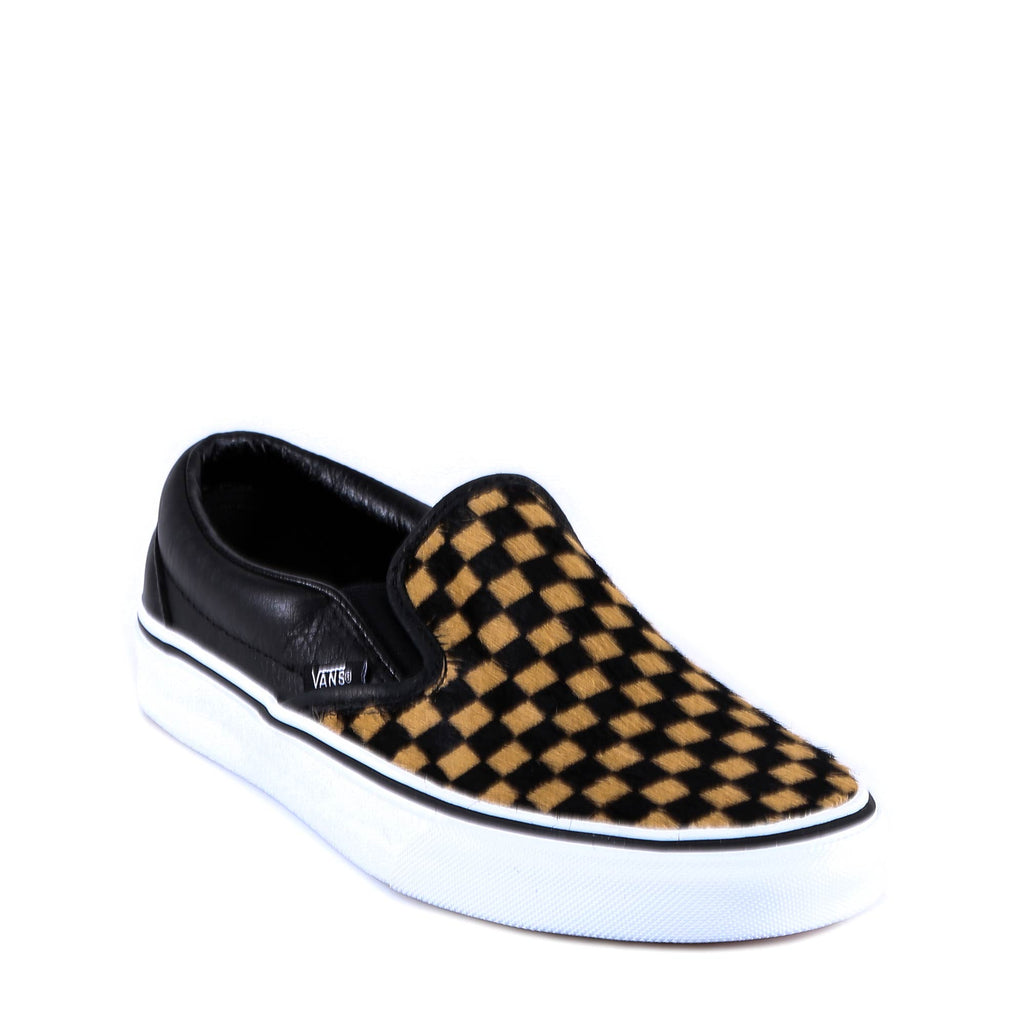 4bad3c70f3eaaf Vans Checkerboard Low-top Fur Sneakers – Cettire