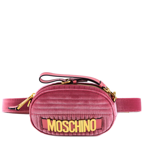 Moschino Velvet Logo Belt Bag