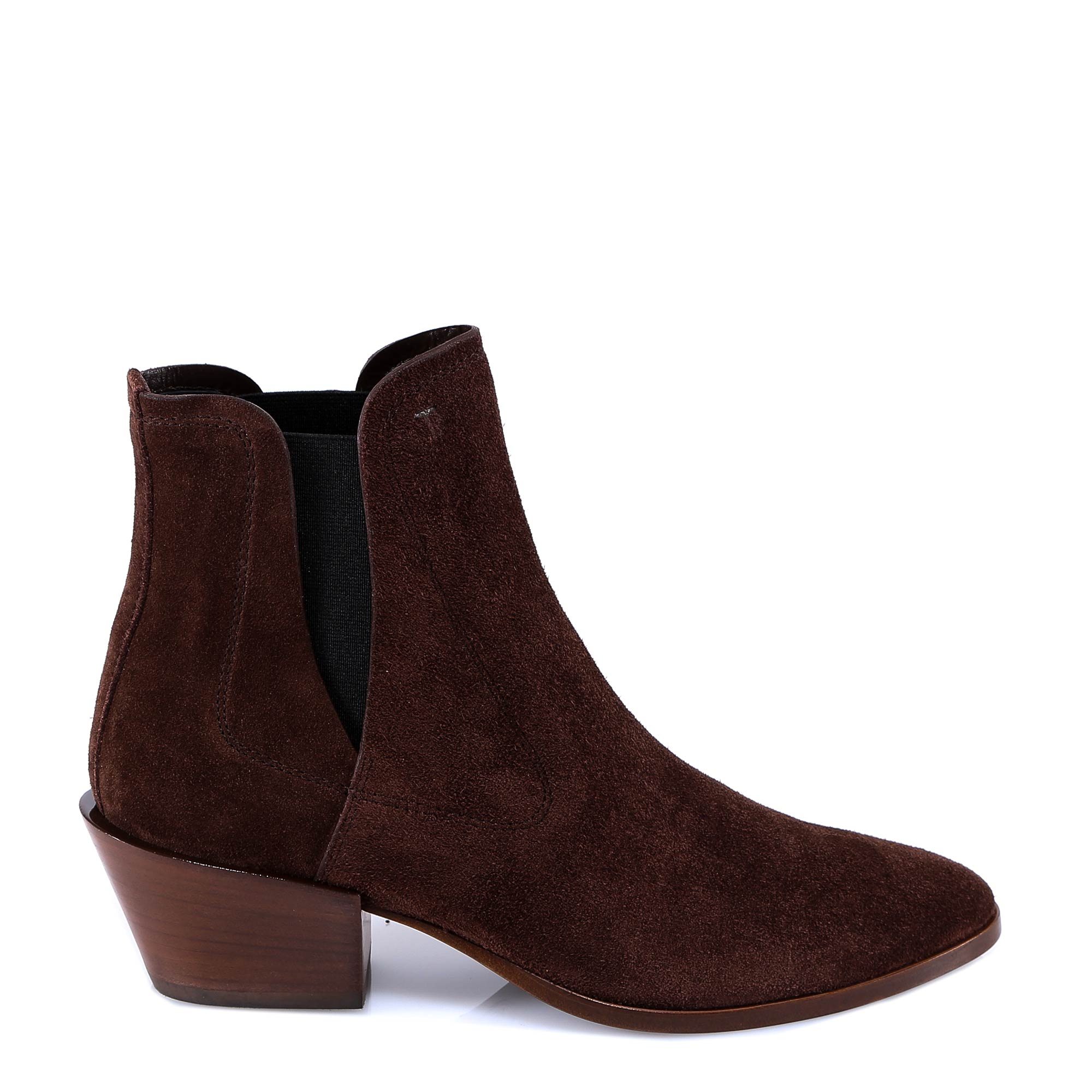TOD'S HEELED SUEDE ANKLE BOOTS