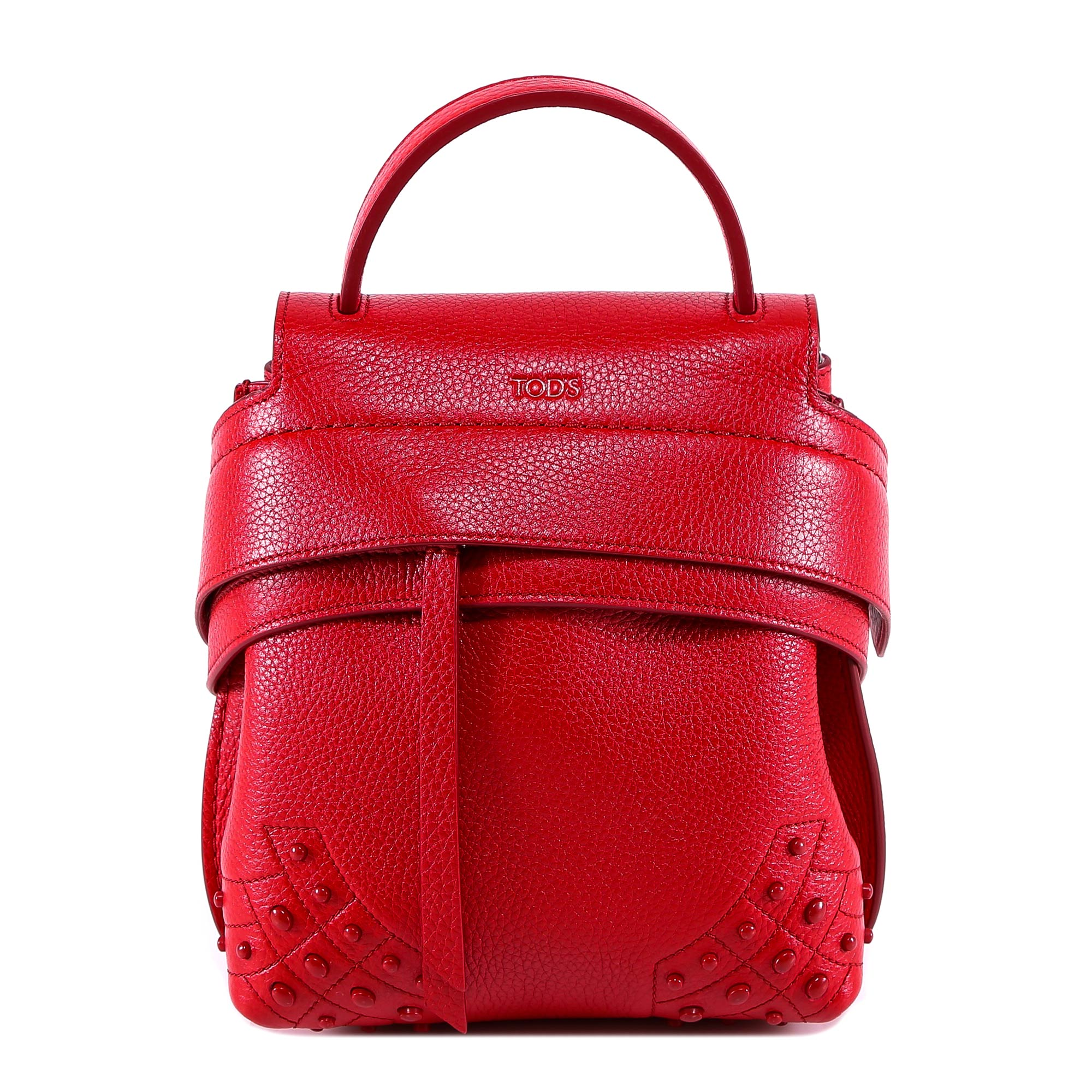 Tod'S Wave Mini Backpack, Red