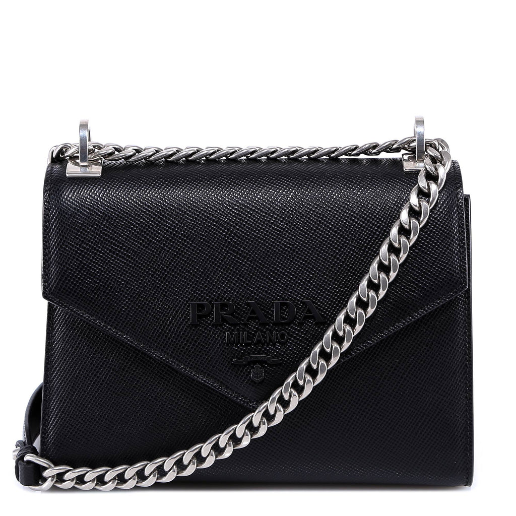2dfcc168a24509 Prada Triangle Logo Flap Shoulder Bag – Cettire